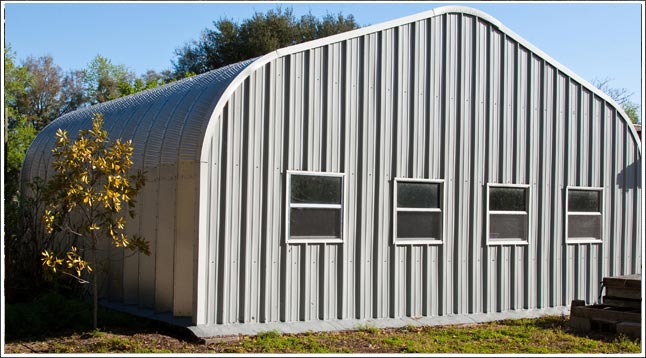 Florida metal garage kit steel arch building located in Kissimmee