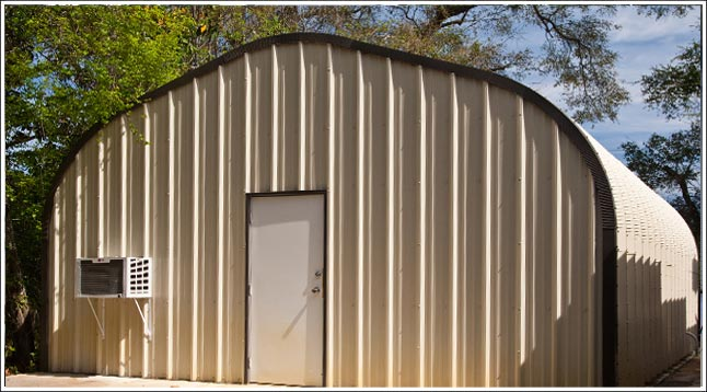 Oregon metal garage kit steel arch building located in Eugene