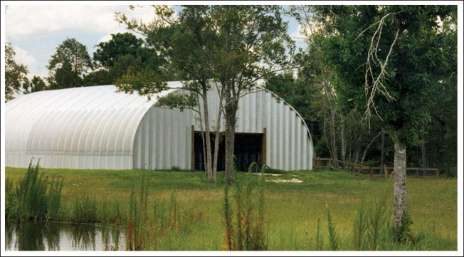 Horse barn arch building
