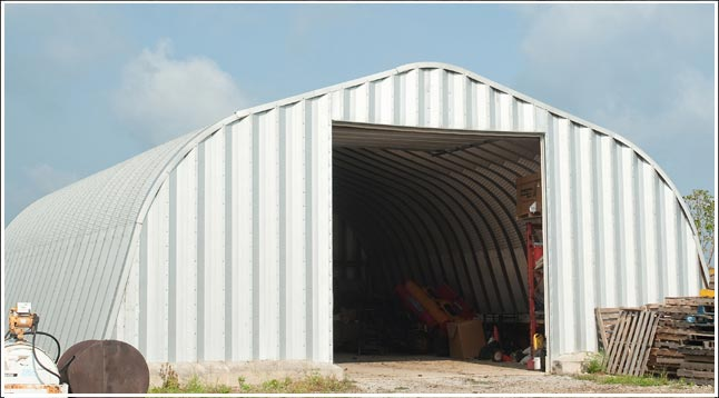 Utah metal garage kit steel arch building located in Cottonwood Heights, UT